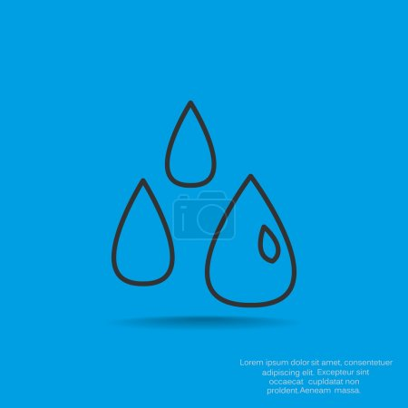 Liquid droplets simple web icon