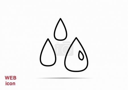 Liquid droplets simple web icon