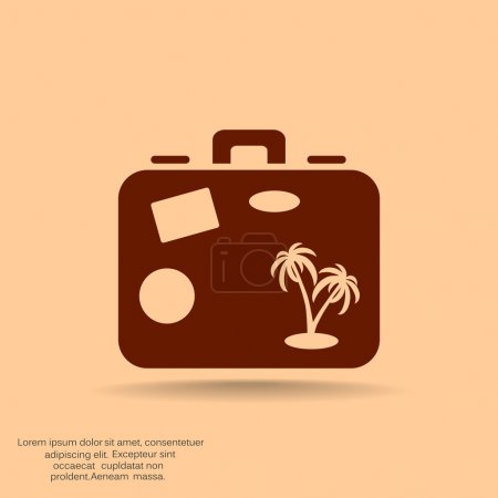 Tourist suitcase simple web icon