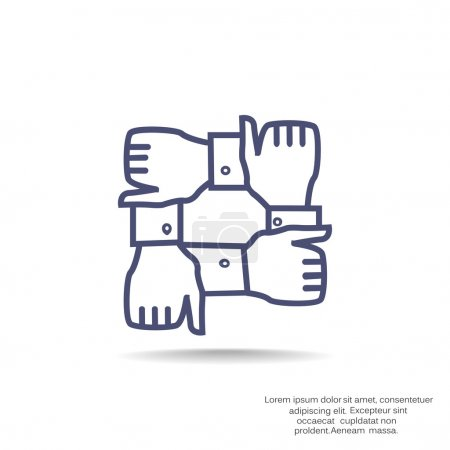 Illustration for Team work icon, vector illustration - Royalty Free Image
