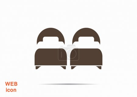 Two beds web icon