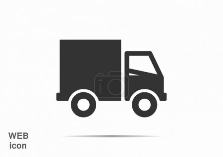 Shipping and delivery of web icon