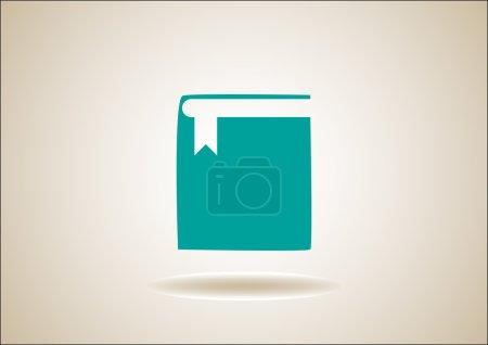 Vector icon book on button...