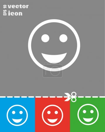 White web icon of smile