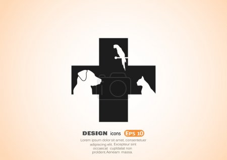 Photo for Veterinary Care icon. Vector illustration - Royalty Free Image