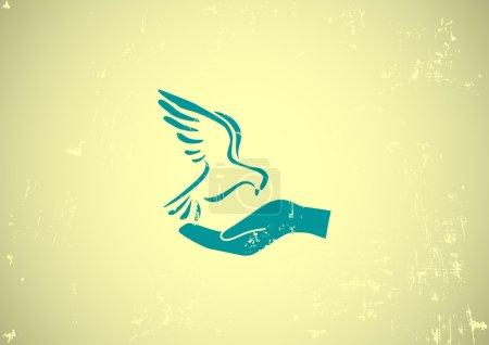 Photo pour Illustration vectorielle de l'icône Web de colombe - image libre de droit
