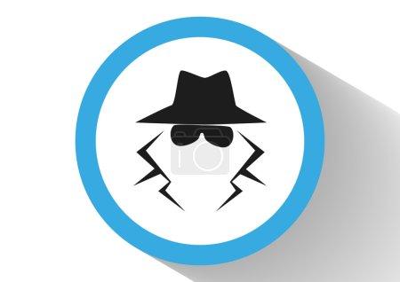 Anonymous spy agent icon