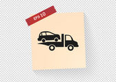 Towing truck icon vector illustration