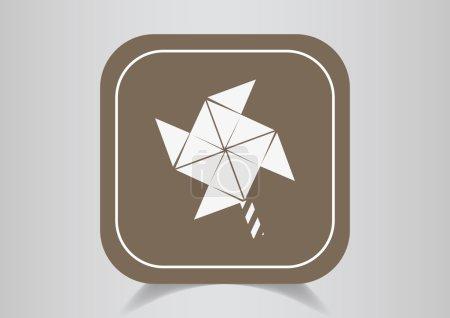Windmill propeller blades icon