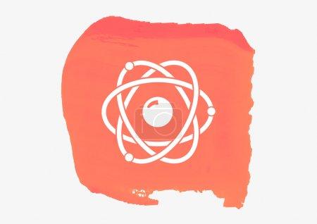 Photo pour Pictogramme d'atome isolé sur le rouge. Conception de vecteur - image libre de droit