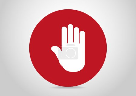 Hand stop web icon