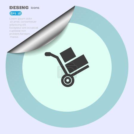 Wheelbarrow for transportation of cargo web icon