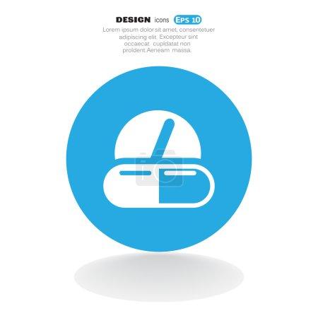 Illustration pour Icône web pilules médicales, illustration vectorielle - image libre de droit