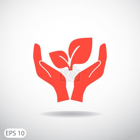 Illustration for Vector illustration of sprout eco sign web icon - Royalty Free Image