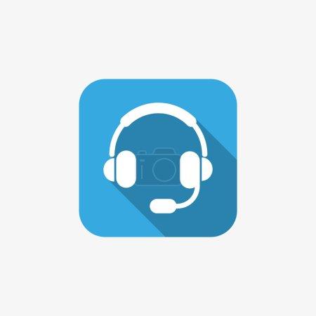 Earphones garniture web icon
