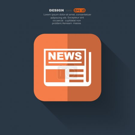 Simple newspaper web icon