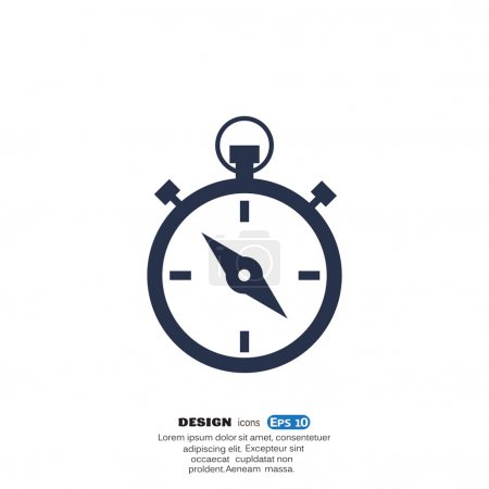 Simple stopwatch web icon