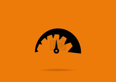 Simple speedometer web icon