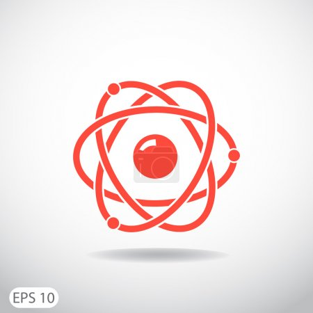 Illustration for Pictograph of atom vector web icon - Royalty Free Image