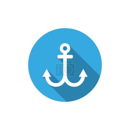 Simple anchor web icon