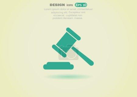 Illustration pour Illustration vectorielle de l'icône Web Droit - image libre de droit
