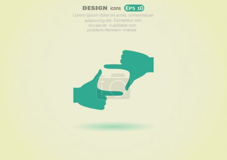 Illustration for Vector illustration of Hands frame web icon - Royalty Free Image