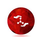 Vector illustration of Molecular compound web icon