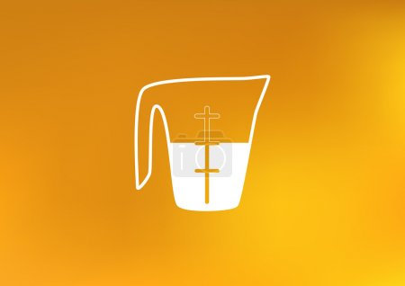 measuring cup icon illustration
