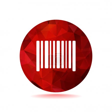 Simple barcode web icon