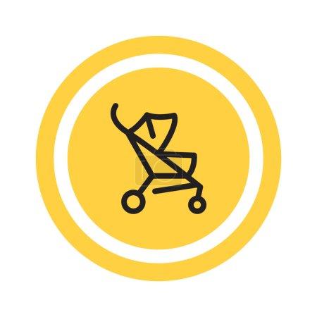 icône de web de poussette