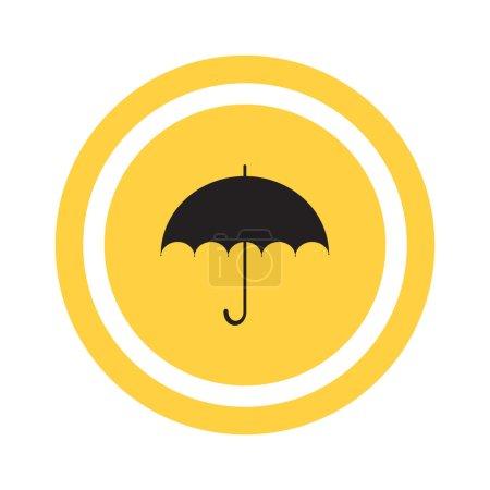 Simple outline umbrella icon, vector illustration