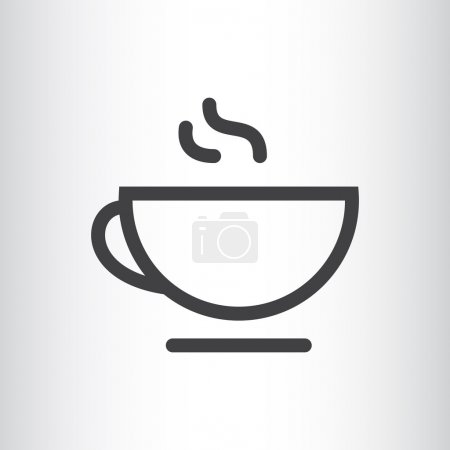 Cup of hot tea web icon
