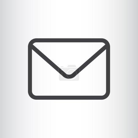 Illustration pour Icône web email. conception vectorielle - image libre de droit