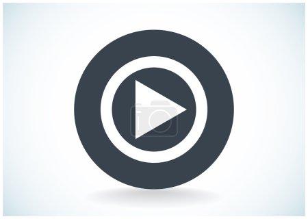Illustration pour Icône de lecture bouton web, illustration vectorielle simple - image libre de droit