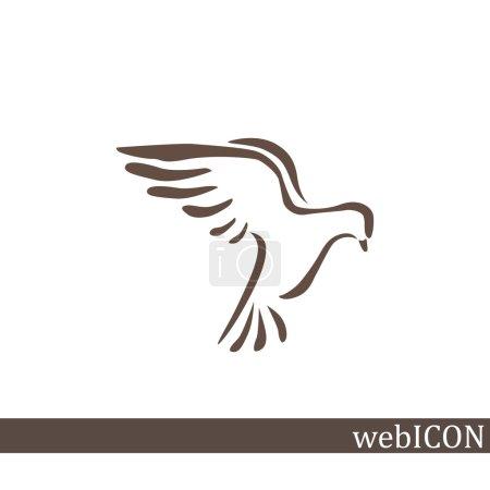 Pigeon simple web icon