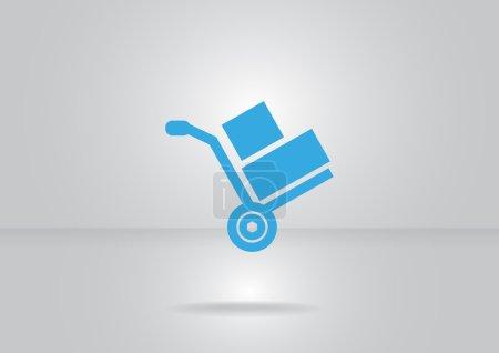 blue Wheelbarrow for transportation