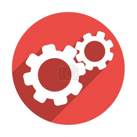 Illustration for Rounded gears simple icon, outline vector illustration - Royalty Free Image