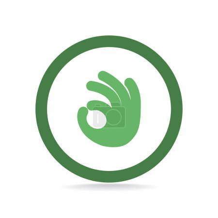 Illustration for Ok gesture web icon, simple outline vector illustration - Royalty Free Image