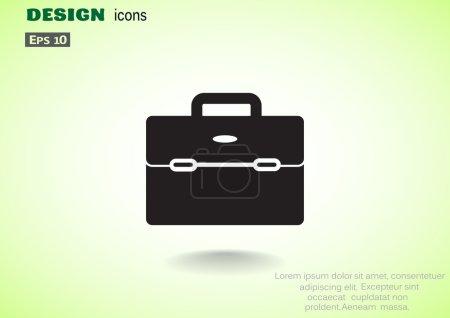 Simple briefcase web icon