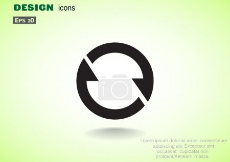 Circle with arrows web icon