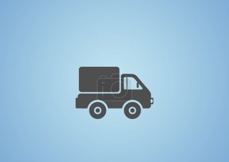 Illustration for Simple truck web icon, outline vector illustration - Royalty Free Image