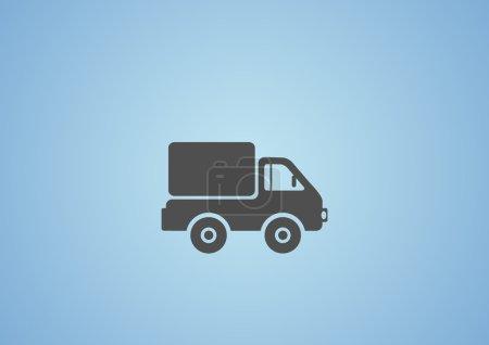 Simple truck web icon
