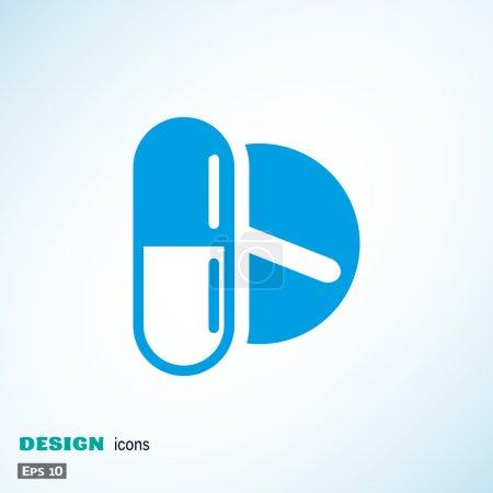 Medical pills web icon