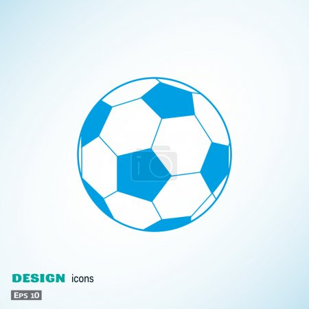 Soccer ball web illustration