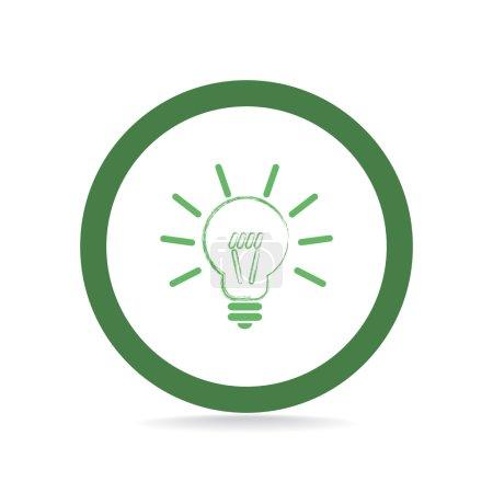 Illustration pour Ampoule web icône, idée conception créative - image libre de droit