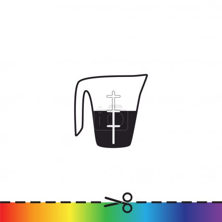 Measuring cup with liquid icon