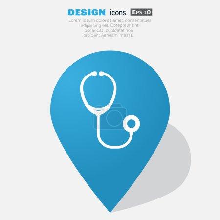Stethoscope simple web icon
