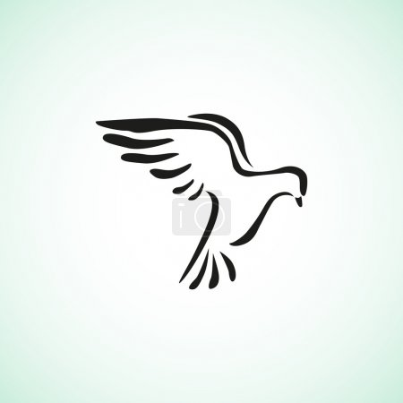 Pigeon simple web icon