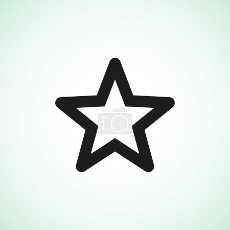 Illustration for Simple star web icon, outline vector illustration - Royalty Free Image