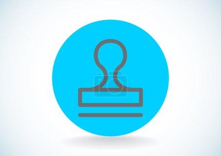 Illustration for Seal stamper concept icon, outline vector illustration - Royalty Free Image